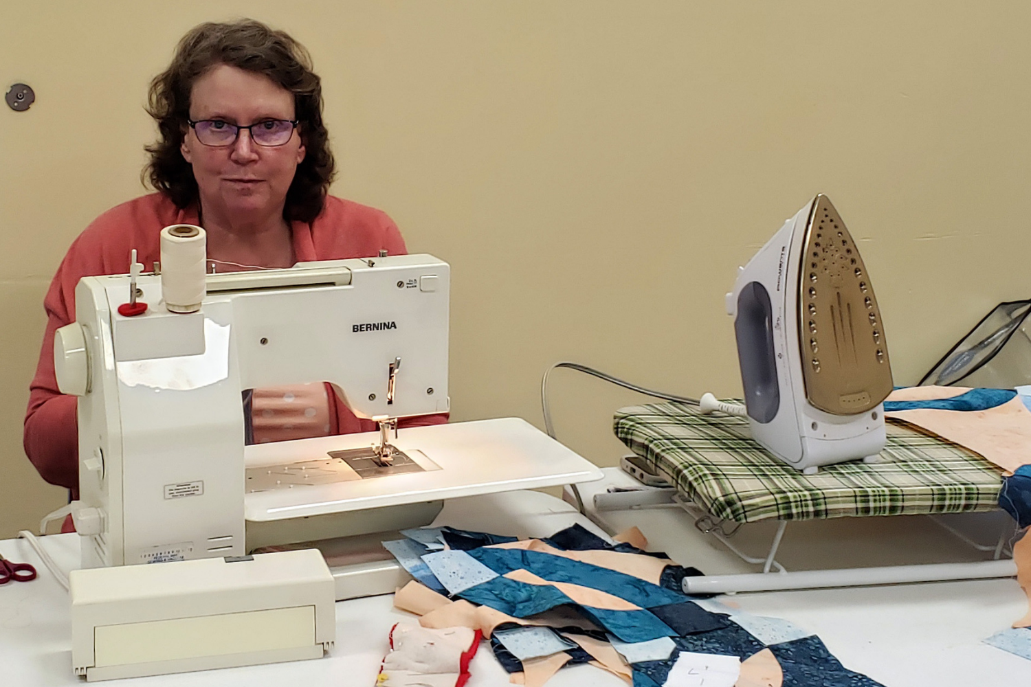 woman sewing at Fife Community Center