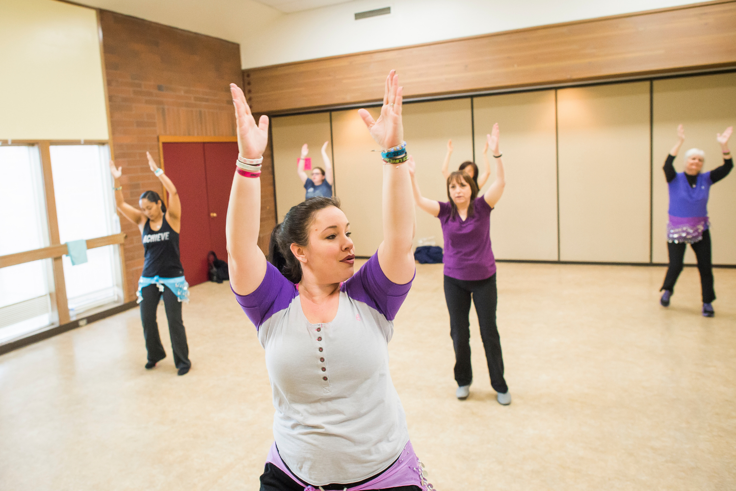 Zumba exercise class at Fife Community Center