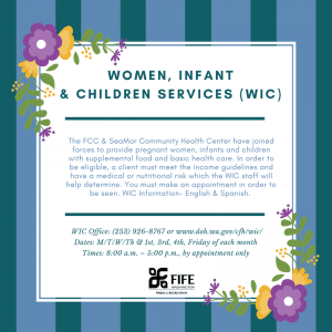 Women, Infant and Children Services Infographic
